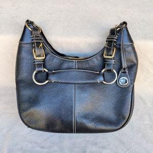 Dooney and Bourke Black Leather Hobo Satchel